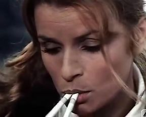 Senta Berger hot and smoking skills
